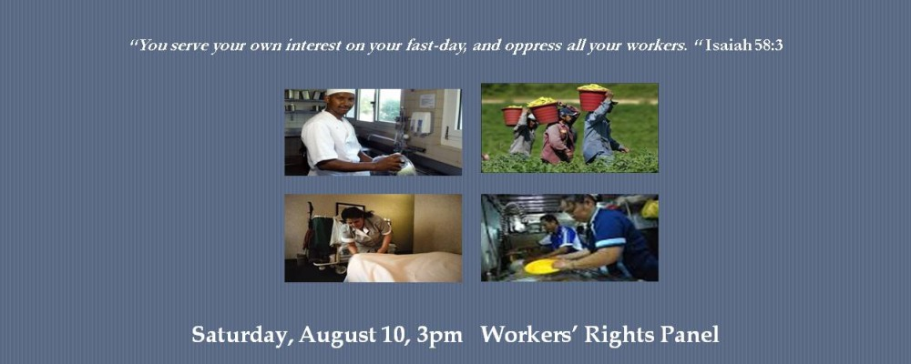 August 10, 3pm: Workers' Defense and Jobs with Justice